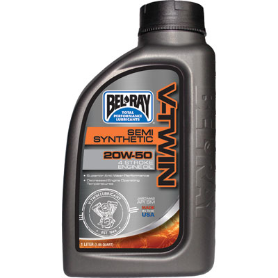 Bel ray v twin semi synthetic motor oil 20w 50 for Semi synthetic motor oil
