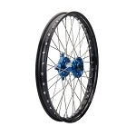 Tusk Complete Front Wheel (Black Rim/Silver Spoke/Blue Hub)