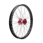 Tusk Complete Front Wheel (Black Rim/Silver Spoke/Red Hub)