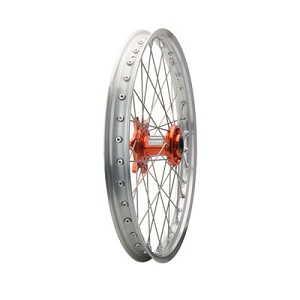 Tusk Complete Front Wheel (Silver Rim/Silver Spoke/Orange Hub)