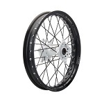 Tusk Complete Rear Wheel (Black Rim/Black Spoke/White Hub)
