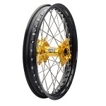 Tusk Complete Rear Wheel (Black Rim/Silver Spoke/Yellow Hub)