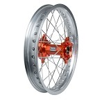 Tusk Complete Rear Wheel (Silver Rim/Silver Spoke/Orange Hub)