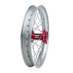 Tusk Complete Rear Wheel (Silver Rim/Silver Spoke/Red Hub)