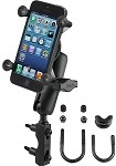RAM U-Bolt Motorcycle Mount with Universal X-Grip® Phone Holder