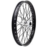Tusk Complete Front Wheel (Black Rim/Black Spoke/White Hub)