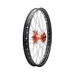 Tusk Complete Front Wheel (Black Rim/Silver Spoke/Orange Hub)